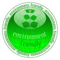Eco button icon Stock Photography