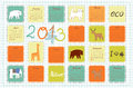 Eco calendar for the year ecological Stock Image