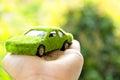 Eco car icon concept Royalty Free Stock Photo