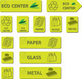 Eco Center Icons Royalty Free Stock Image