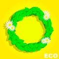 Eco Circle. Banner. Summer