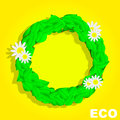 Eco Circle. Banner. Summer Royalty Free Stock Photo
