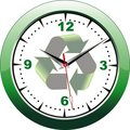 Eco clock Royalty Free Stock Image