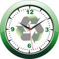 Eco clock Royalty Free Stock Photo