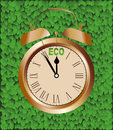 Eco clock Royalty Free Stock Photo