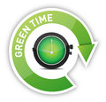 Eco clock green time Stock Photo