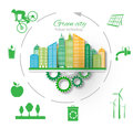 Eco concept. Green City