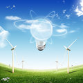 ECO Concept (light bulb) Royalty Free Stock Photography