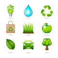 Eco Design Elements And Icons. Vector Royalty Free Stock Photography