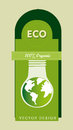 Eco design over green background illustration Royalty Free Stock Photo