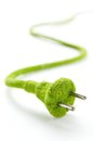 Eco electric plug Royalty Free Stock Photography