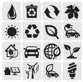 Eco energy icons Stock Images