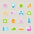 Eco energy icons set illustration eps Stock Photography