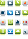 Eco environment icon set Royalty Free Stock Images