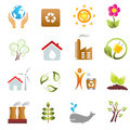 Eco and environment icons Royalty Free Stock Photos