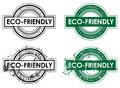 Eco environment stamp an friendly rubber set Royalty Free Stock Photo
