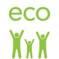 Eco family Royalty Free Stock Photo