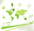 Eco friendly background ecology whit green elements great for presentation or print Stock Image