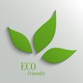 Eco friendly background green abstract paper leaves Stock Images
