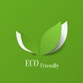 Eco friendly background green abstract paper leaves Royalty Free Stock Photo