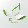 Eco friendly background green abstract paper leaves Stock Photos