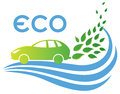 Eco Friendly car Royalty Free Stock Photo