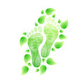 Eco friendly feet concept natural illustration design over white Stock Photo