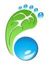 Eco Friendly Footprint vector Royalty Free Stock Photo