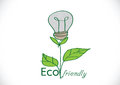 Eco friendly light bulb plant growing green energy concept Royalty Free Stock Photo