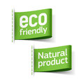 Eco friendly and natural product labels clothing Royalty Free Stock Images
