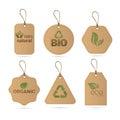 Eco Friendly Organic Natural Product Web Icon Tag Set Logo Royalty Free Stock Photo