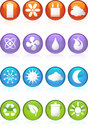 Eco friendly round web buttons Royalty Free Stock Photos
