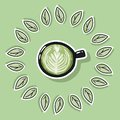 Eco friendly spa poster with green coffee. Go green living