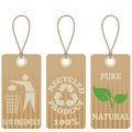 Eco friendly tags Stock Photo
