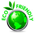 Eco glossy icon Stock Photo