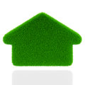 Eco grass house white background ecology concept Royalty Free Stock Image