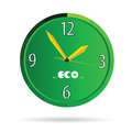 Eco green clock color vector Royalty Free Stock Photo