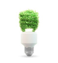 Eco and green energy bulb Stock Photo
