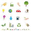 Eco and green environment symbols Stock Image