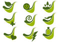 Eco green icon symbols Royalty Free Stock Images