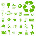 Eco and Green Icons Royalty Free Stock Images