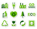 Eco green icons set Stock Image