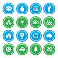 Eco green labels set - ecology, recyling, eco powe Stock Photography
