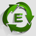 Eco green logo ecology design Stock Photography