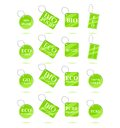Eco Green Recycle Tags Royalty Free Stock Photo