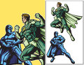 Eco Hero vs Dark Hero Royalty Free Stock Photos