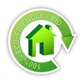 Eco home bio friendly house concept Stock Images