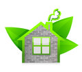 Eco home illustration design over a white background design Stock Photo