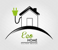 Eco home over white background vector illustration Stock Photo