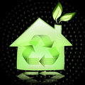 Eco House Stock Photo